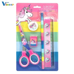 hot cartoon design school kids stationery set wholesale