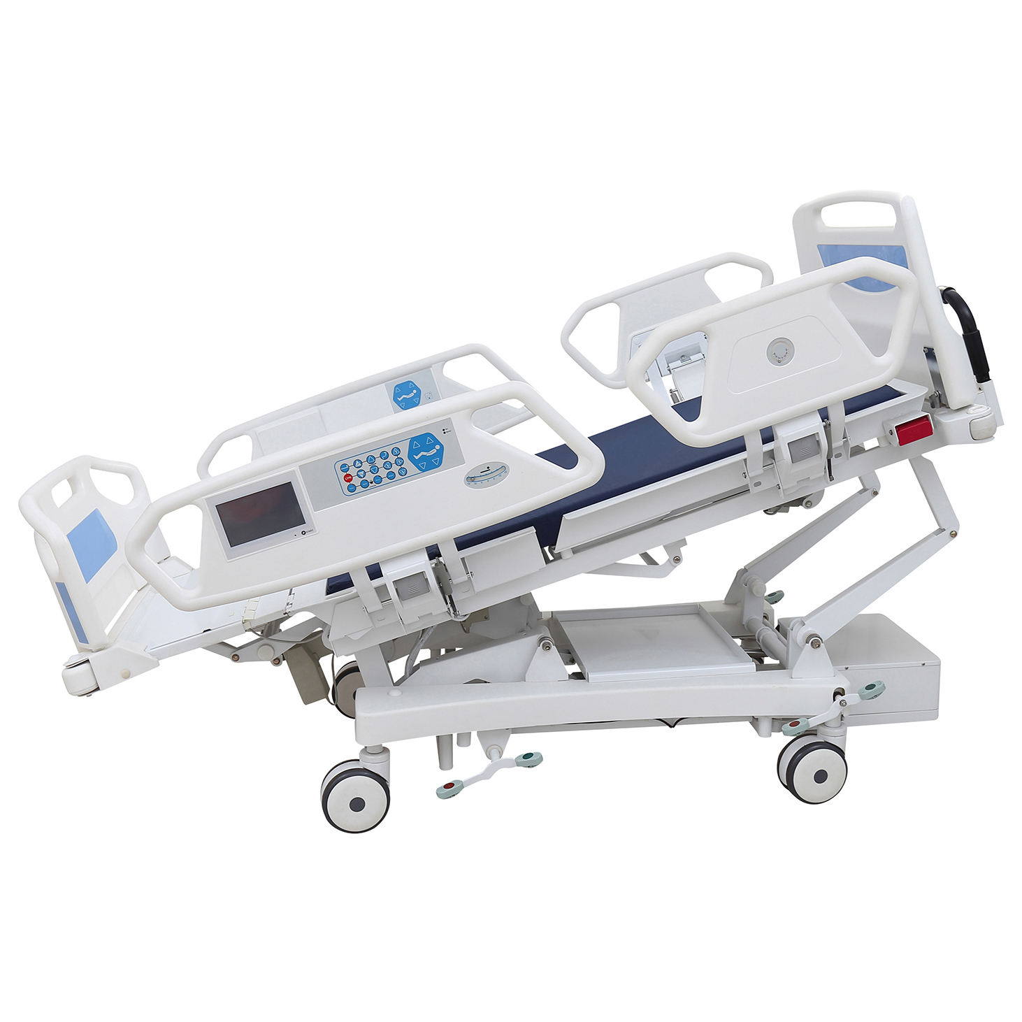 Mufti-function folding medical ICU hospital bed electrical