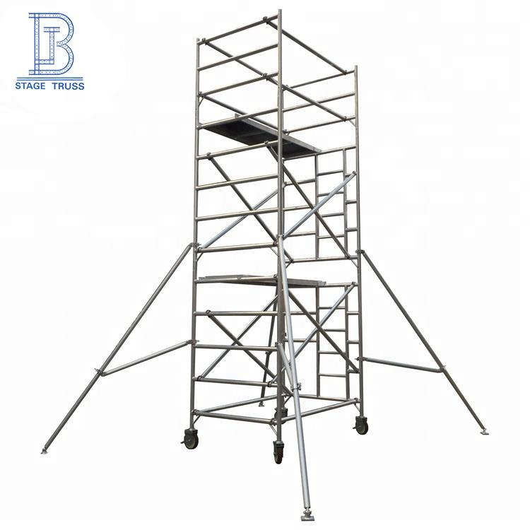 Aluminium10m Movable cheap formwork ladder scaffolding tower system for sale