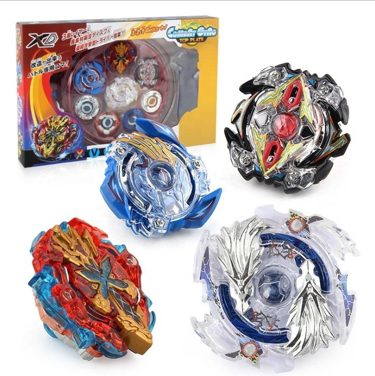 Small Moq 4D Beyblades Burst Launcher Set Fusion Metal Box Battle Starter Gyro Spinning Top Toys For Kids