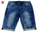 Factory wholesale knitted denim shorts men stretch basic jeans de hombr shorts in men's shorts