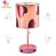 Customized Bedside Reversible Sequin Shade Usb Port Ac Outlet 40W Table Lamp