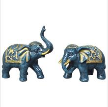 Resin Sculptures Handmade Elephant Crafts wholesale elephants tv cabinet decoration