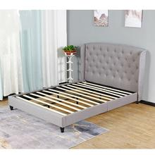 Free Sample Platform Full Size Bed Frame For Headboard Cheap