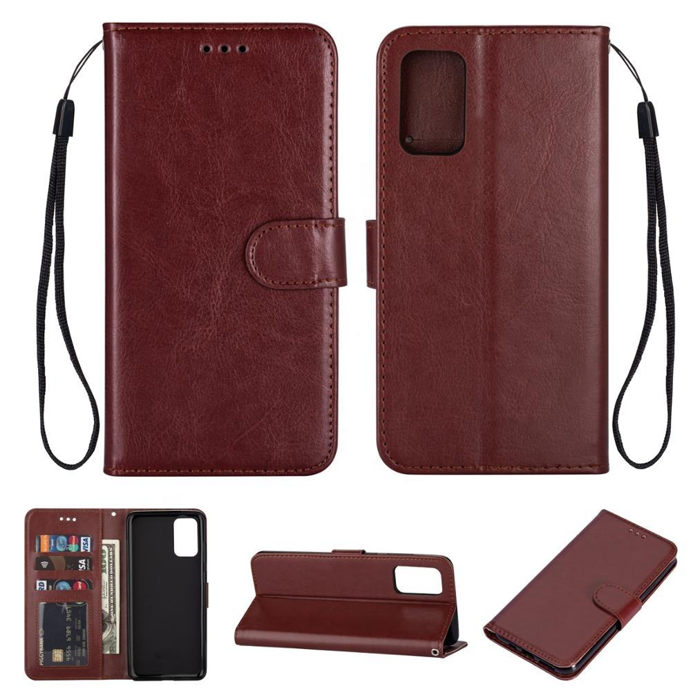 Rohs [ Card Case Galaxy ] Wholesale Custom Logo Card Slot Mobile Phone Shell Wallet Leather Flip Case For Samsung Galaxy S20 Phone Case Cover