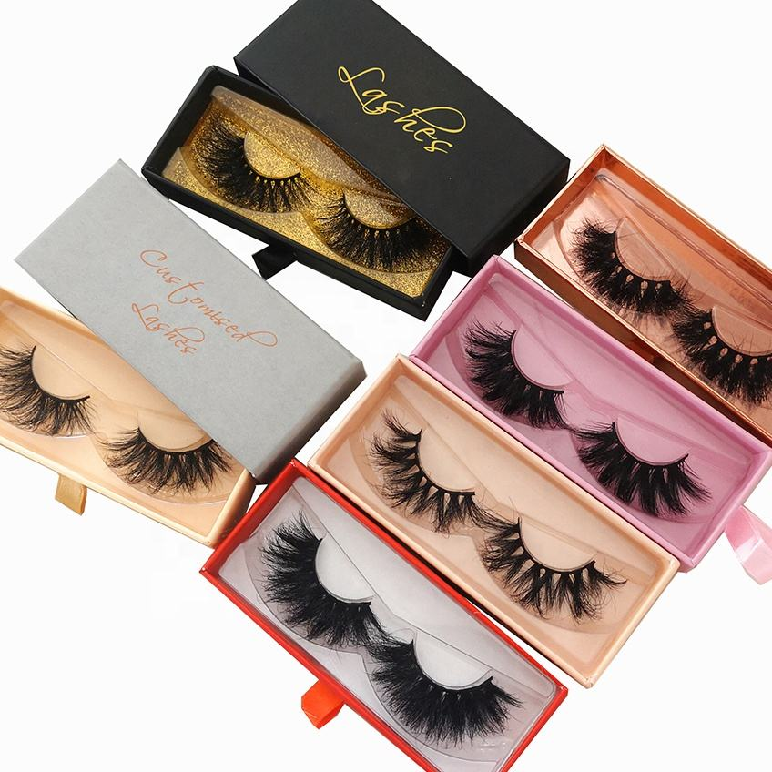 Silk lashes high quality Siberian mink eyelash vendor wispy fluffy 3d full strip mink lashes wholesale 5d 25mm mink eyelashes