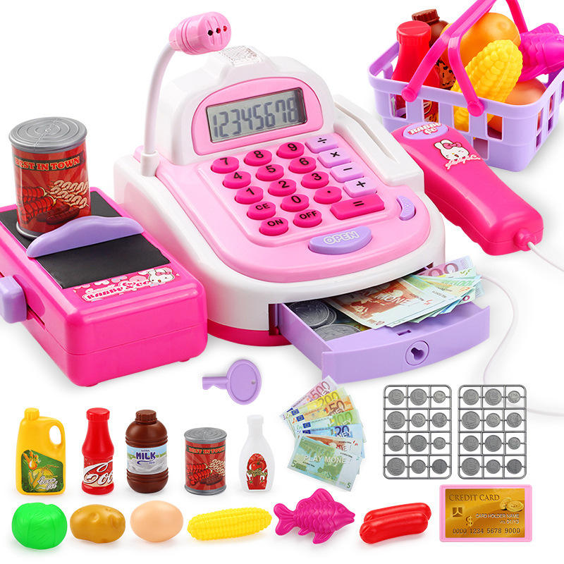 New products 2020 Pos play machine children toys for girls cash register