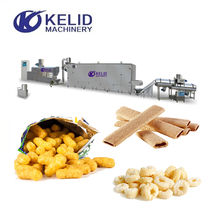 Small Puff Corn Snack Food Snack Bar Extruder Making Production Machine