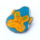 UKO Custom promotional soft enamel with epoxy metal enamel custom pin badge