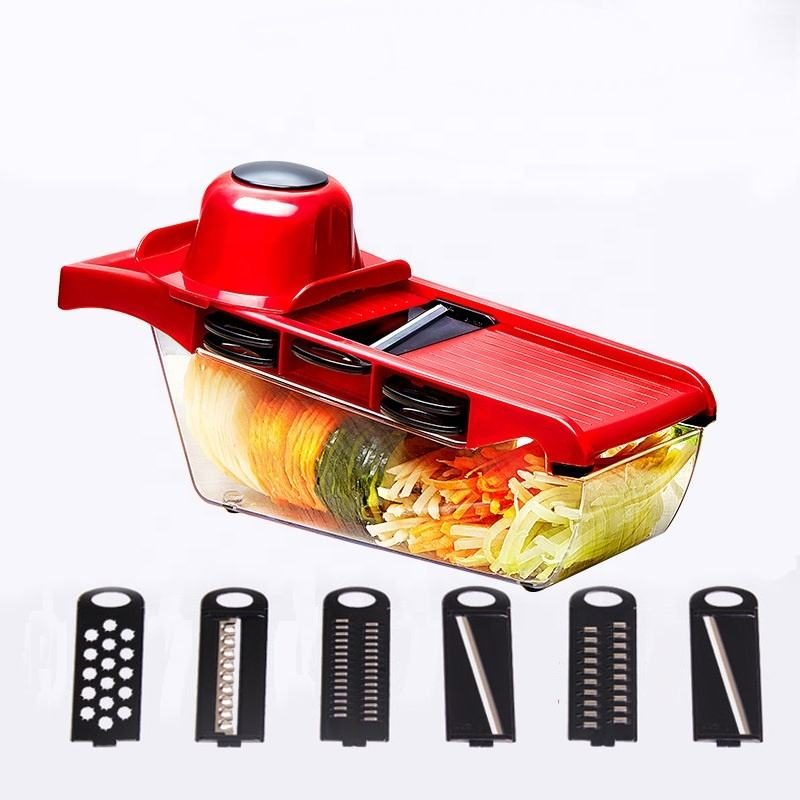 Veggie Chopper Spiralizer Vegetable Slicer - Onion Cutter with Container - Pro Food Chopper - Slicer Dicer Cutter
