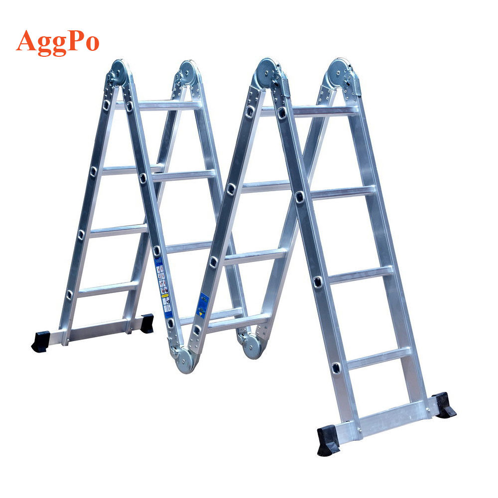 Multi Functie/Gebruiken/Purpose Aluminium Vouwen multifunctionele Stap Ladder 4x3 4x4 4x5 multifunctionele telescopische ladder