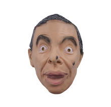 Molezu Wholesale Custom Made in China Toy Quality Funny Mr Bean Factory Lifelike Human Latex Rubber Mask for Halloween Party