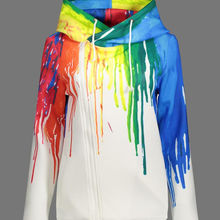 New women's graffiti print cardigan hoodie with zipper