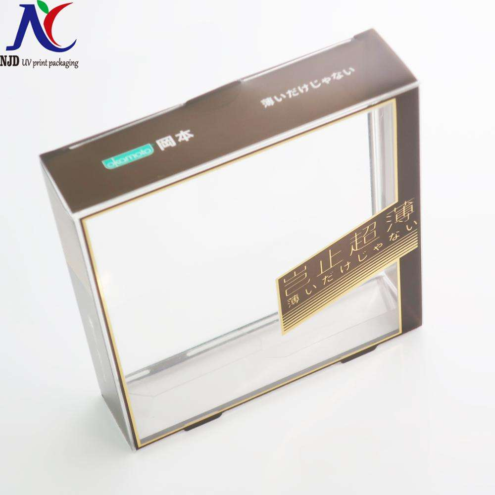 New Design clear condom packing box plastic packaging