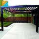 Motorized automatic bioclimatic waterproof metal pergola carport with canvas curtain