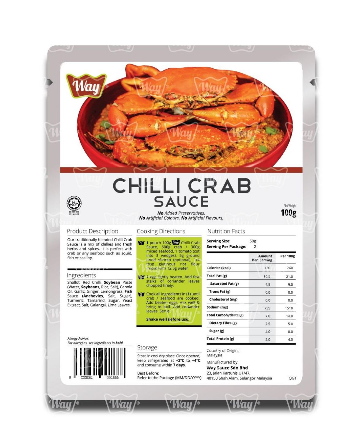 Chili Crab Spice Sauce Bottle Way Sauce Brand Best Selling Food Seasoning OEM Manufacturer Ship Export Refined Premium Paste