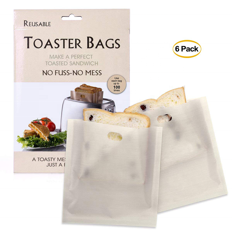 16*16.5cm*0.075mm Toasted Bag Eco-Friendly Cotton nonstick Paper Toast Bag Reusable Bread Bags