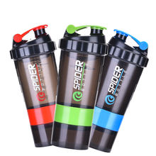 plastic gym sports water bottles fitness shaker protein shaker bottle