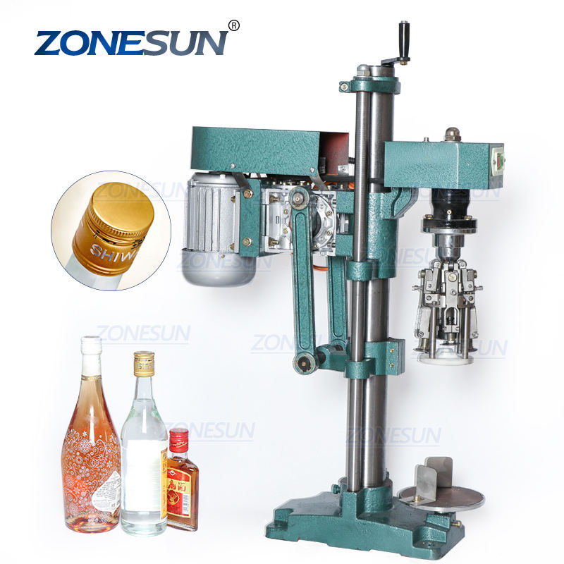 ZONESUN ZS-XG60 Spray Semi Automatic Vial Glass Bottle Jar Ropp Screw Bottle Manual Capping Machine