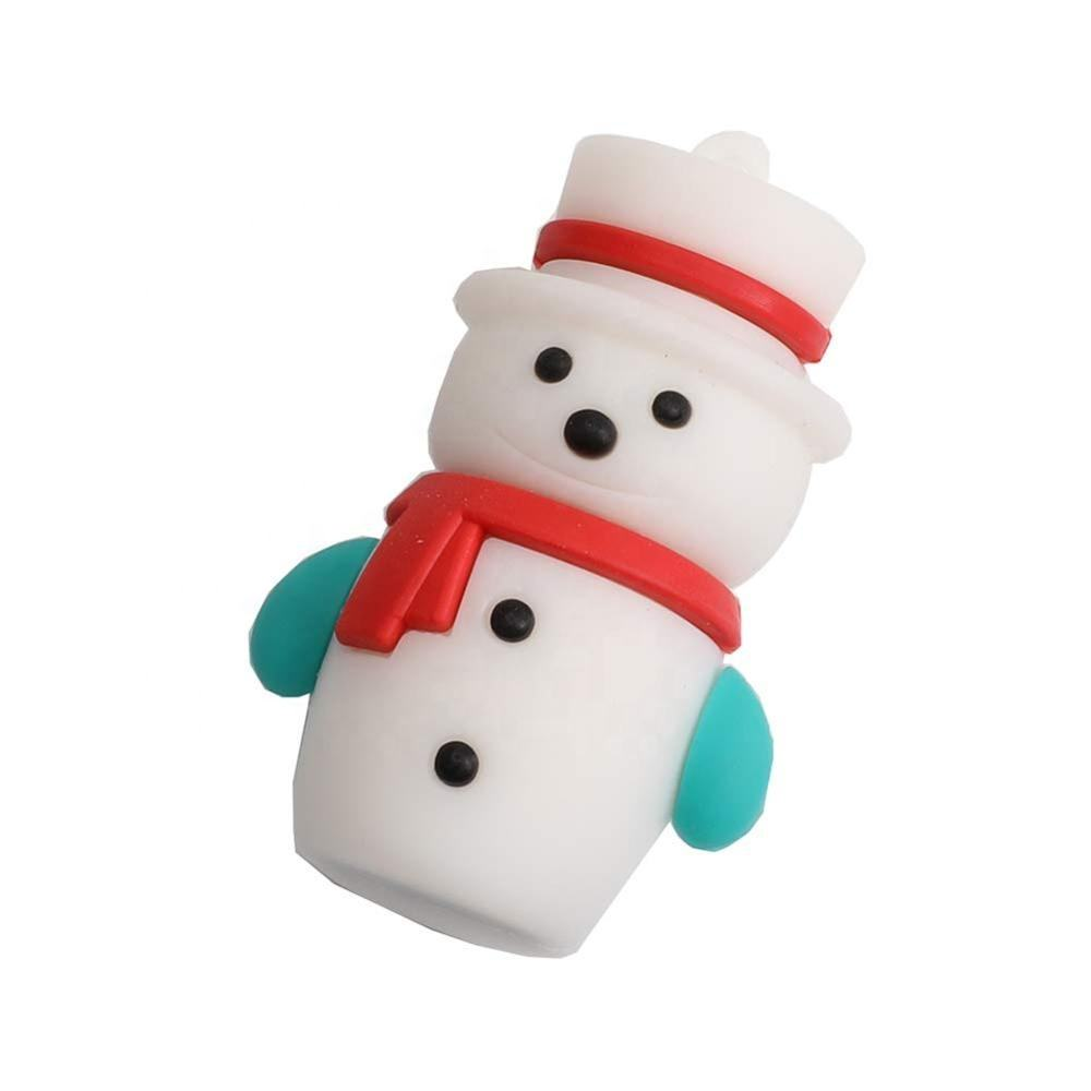 Beautiful creative usb gift pen drive Christmas snowman design flash drive disk personalized fast speed usb stick with logo