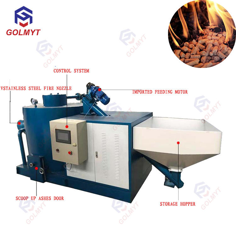 Wood Pellet Burner Use Waste Wood and Logs Chips as Fuel