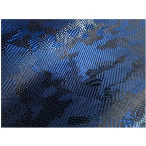 Aramid carbon fiber mixed fabric, red / blue camouflage jacquard 3K carbon fiber camouflage cloth,carbon fiber camo cloth