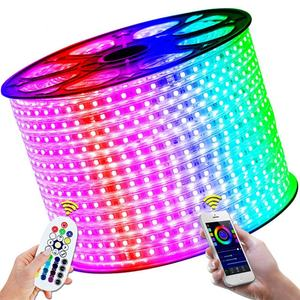 Tira de luz led flexible RGB smd 5050 3528 de alto brillo impermeable