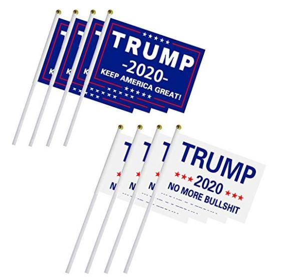 Custom promotional 2020 Keep America Great pride donald trump hand flag