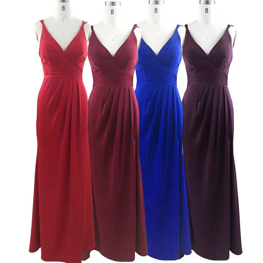 Wholesale Good Quality Lace And Beaded formal Elegant Long Bridesmaid dresses
