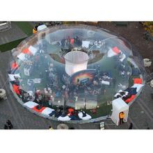 giant clear 0.8mm pvc transparent inflatable dome bubble tent for sale