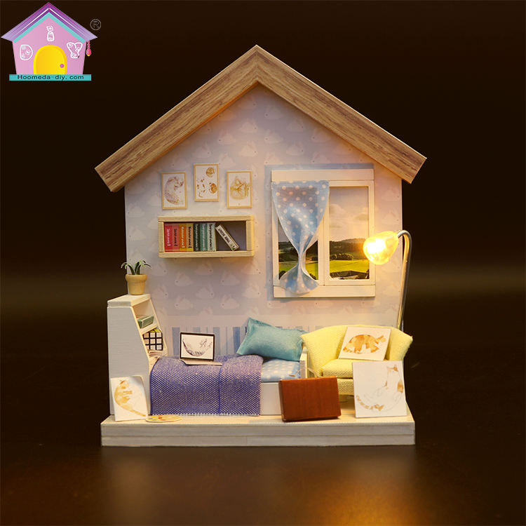 Mini wooden doll house furniture miniature kit souvenir wedding gift guests