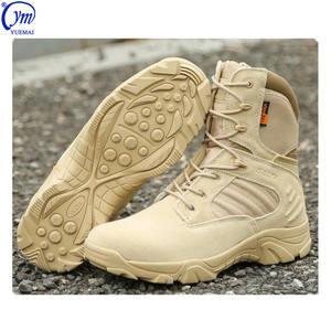 Wholesale Wear-resistant Waterproof Quick-release Zip Cow Leather Cushioning Combat Desert Tactical Army Military Boots For Sale