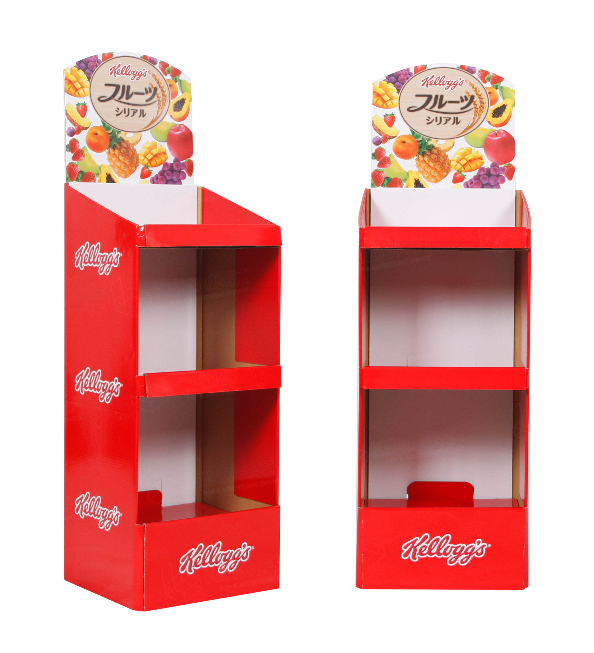 Supermarkt Kartonnen Groente & Fruit Reclame Display Floor Stand