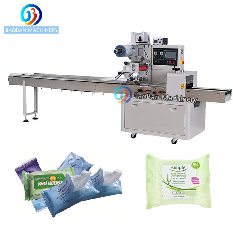 JB-450X Horizontal flow wrapping machine Automatic wet tissue packing machine with good price