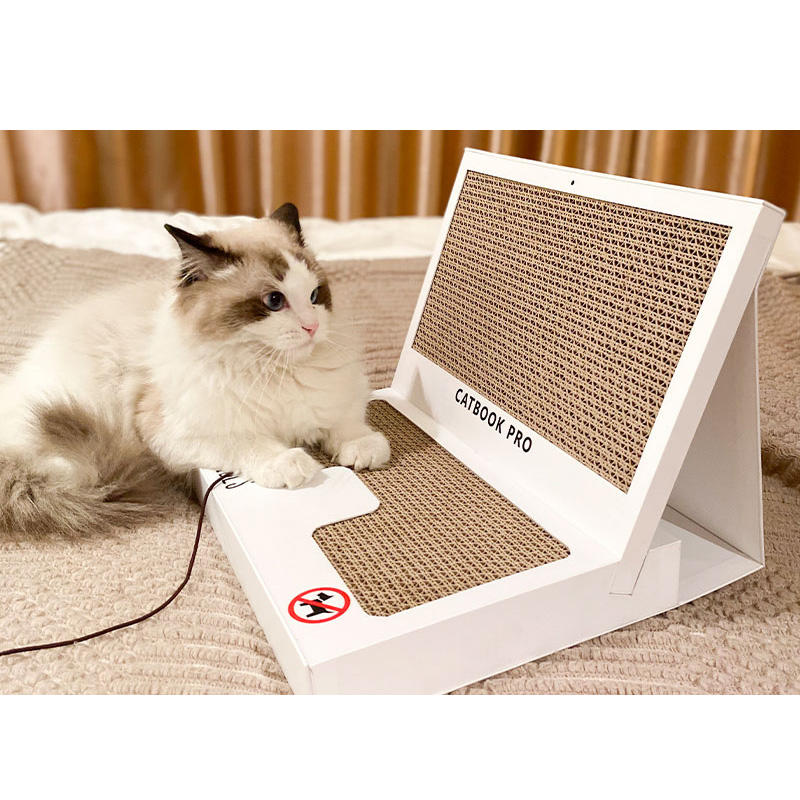 2021 Eco-friendly Corrugated Cardboard cat book pro scratching post board toy cat scratch post