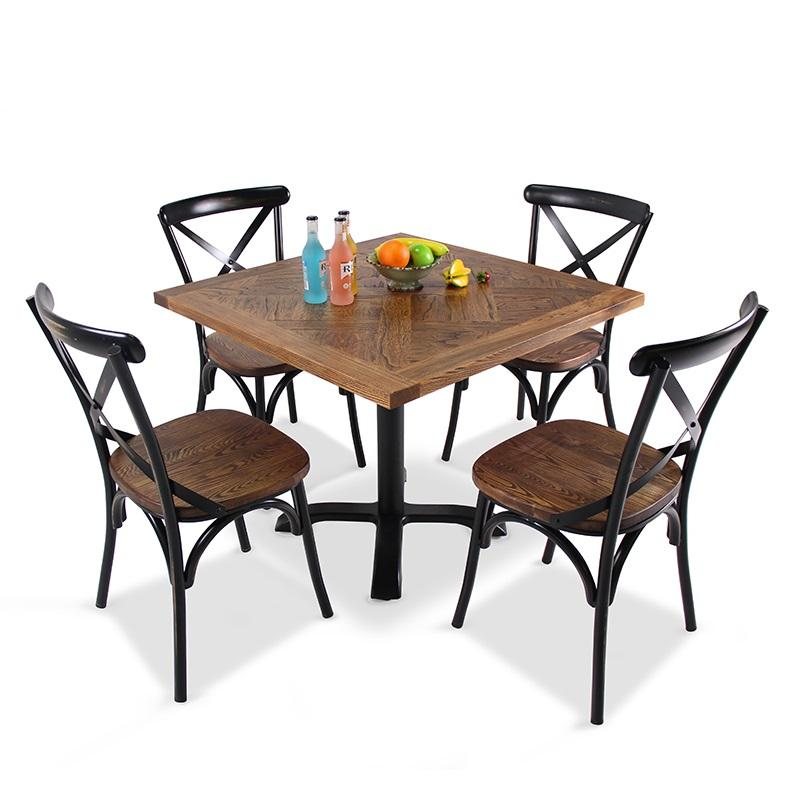 New Design Retro Restaurant American Diner Furniture Set Wedding Banquet Event Party Rental Chairs Tables
