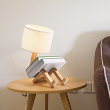 Home Goods Idea Designer E27 Bedside Night Reading Bedside Modern Table Lamp LED Home Decor with Wood Base