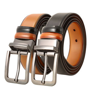 Luxury Casual Men's Genuine Leather Cowhide Belt With Pin Alloy Buckle