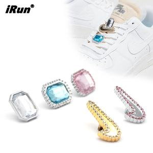 iRun New Trending Alloy Shape Gemstone Shoelace Slide Charm Sneaker Jewelry Accessory for nike Shoe Charm
