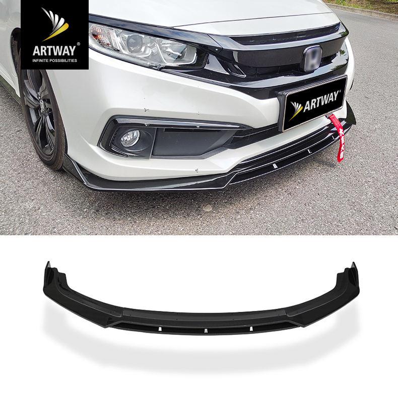 For Honda Civic 2012 4 Door Asian Model Carbon Fiber Front Lip Spoiler Splitter