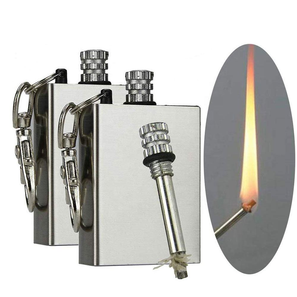 Kongbo Permanent Stainless Steel Flint Fire Starter Match Lighter