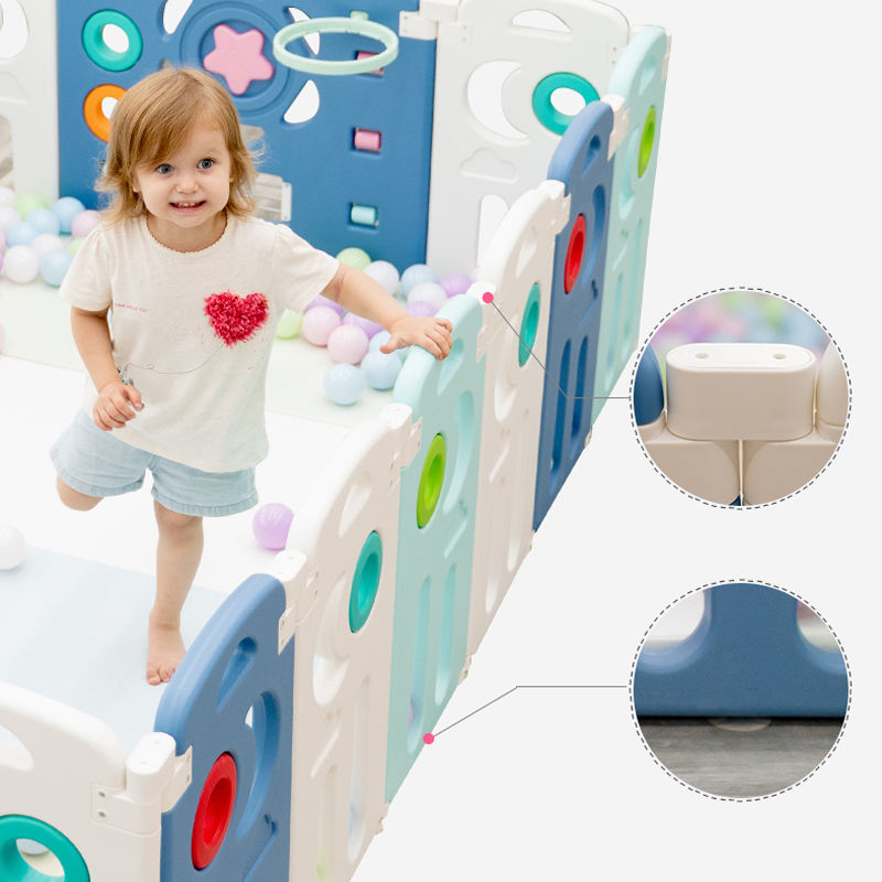 Good Portable Big Size Square Baby Playard, Colourful Children Kids Plastic Play Yard Baby Play Pen