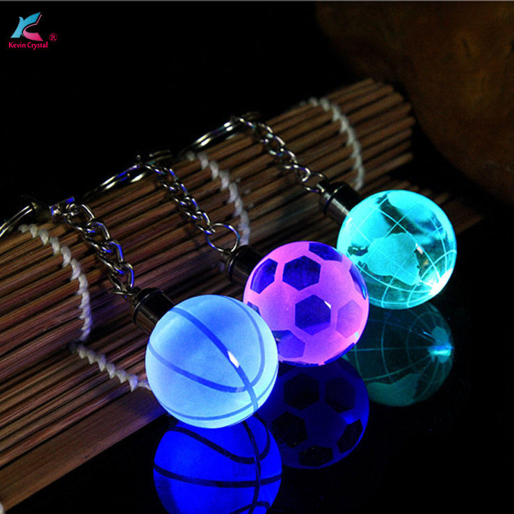 souvenirs gift business gift crystal ball favors 3d laser engraving logo crystal keychain