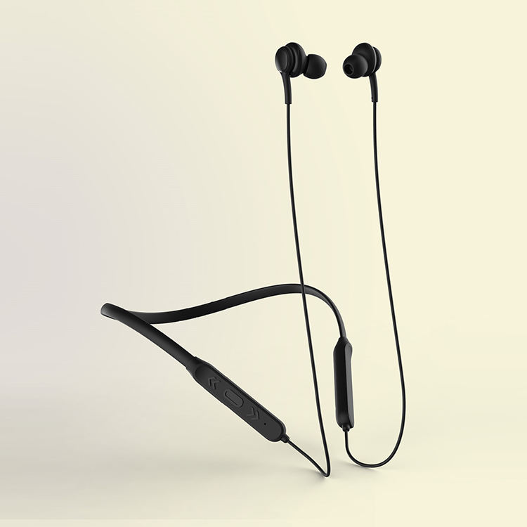 wholesale Logo Customized Stereo sound with deep bass lightweight portable handsfree V5.0 wireless neckband earphone