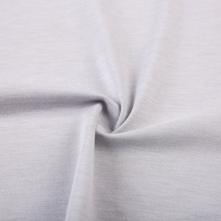 eco custom stock plain dyed recycled viscose nylon wool spandex rayon knit fabric