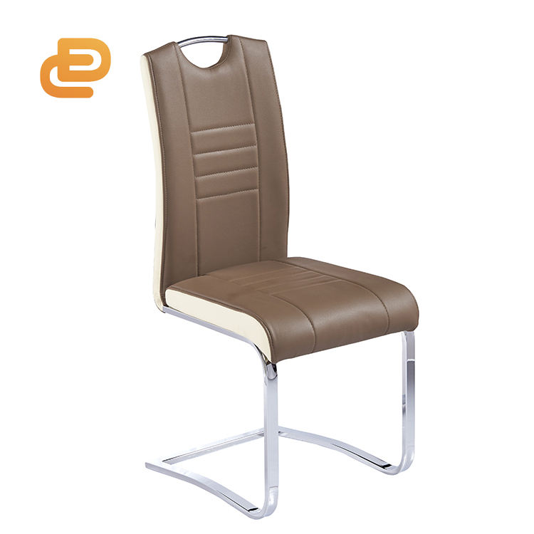 Hot sale commerical restaurant furniture cheap pu leather dining chair italian style metal fabric dining chair leather