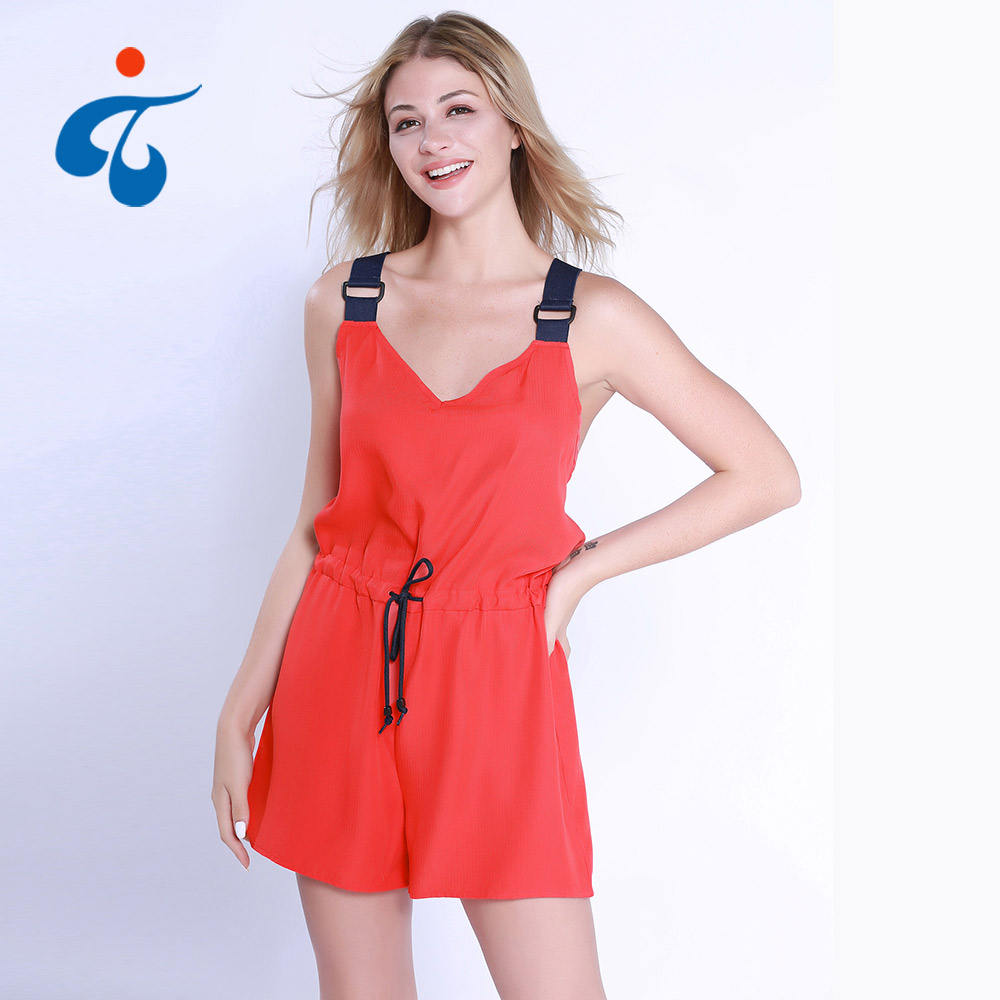Women Designer Jumpsuits Good Sale Women Summer Short 1 Piece Red Female Shorts Jumpsuits