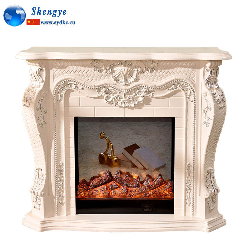 marble electric gas fireplace mantel