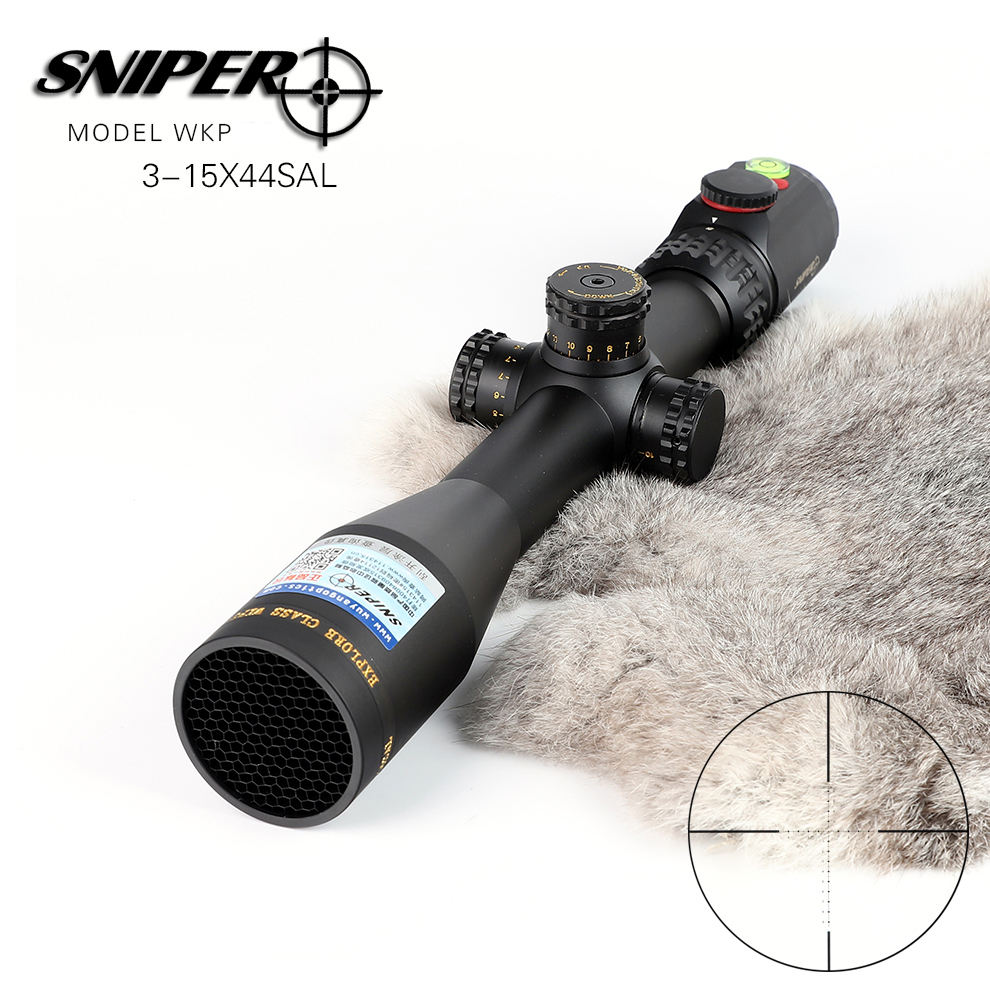 Groothandel Spot SNIPER wkp 3-15x44 <span class=keywords><strong>SAL</strong></span> sniper pistool accessoires tactical sight hunting rifle scope voor pcp lucht pistool