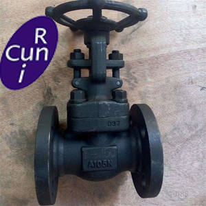 API 602 welded flange connection forged steel gate valves